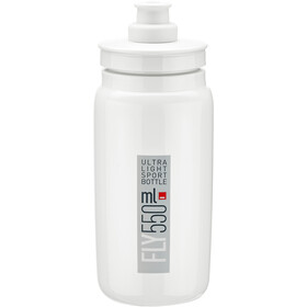 Elite Fly Trinkflasche 550ml white/grey logo